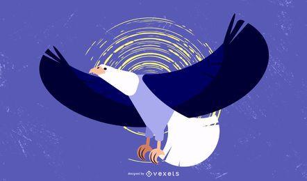 Vector de tema de águilas