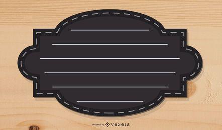 Cuadro de texto estético Vector negro