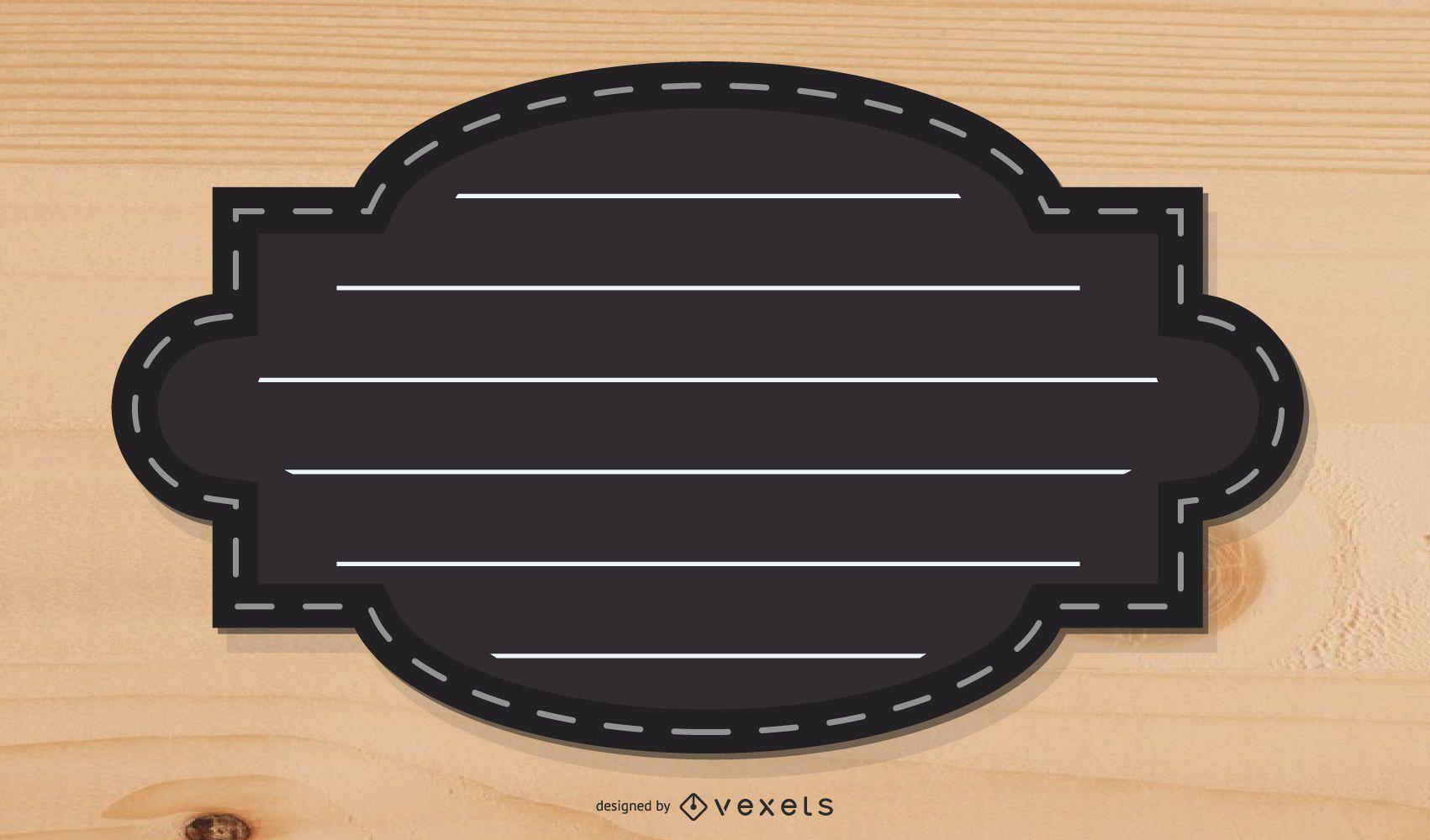Vector cuadro de texto estético negro