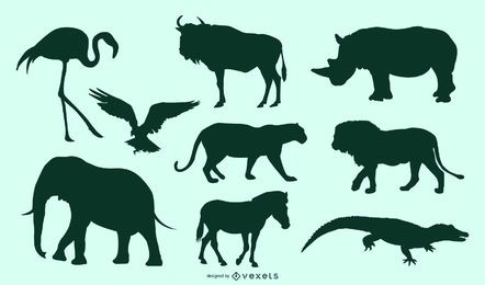 African Animals Set