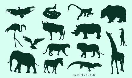 Conjunto de animais africanos