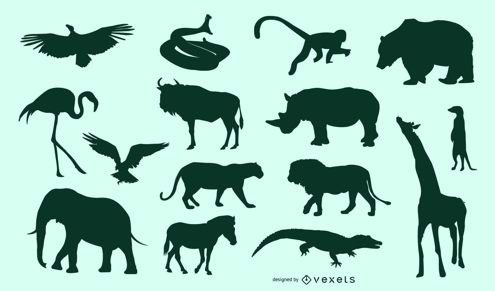 Conjunto de animales africanos