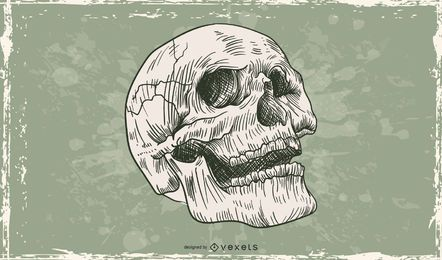 Cráneo de grunge vector libre