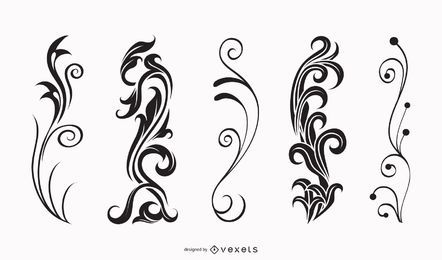 Vector Vintage elementos de diseño ornamental