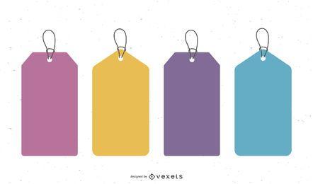 Vector libre de etiquetas de colores