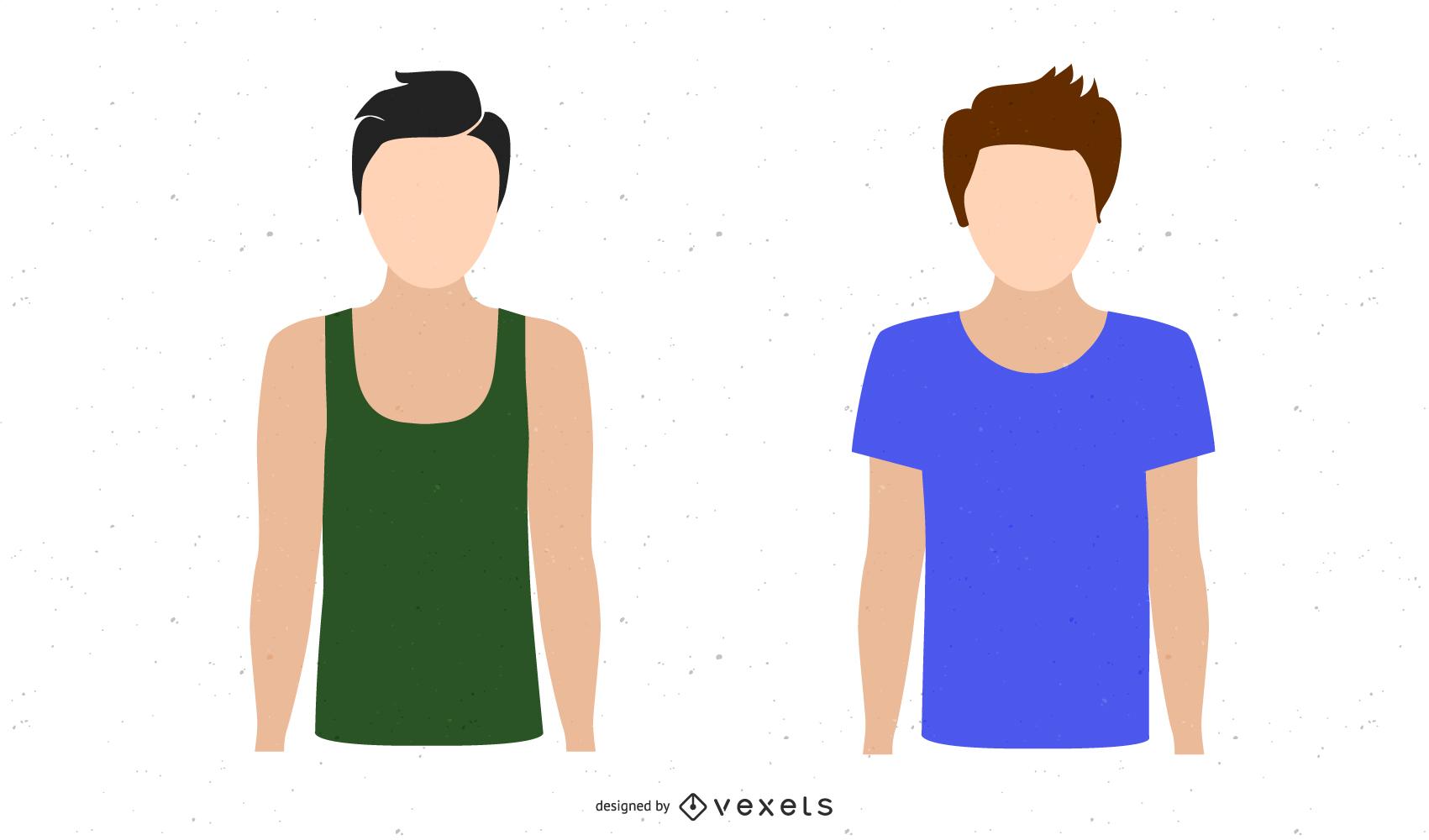 Modelo de camisa Vector Boy T