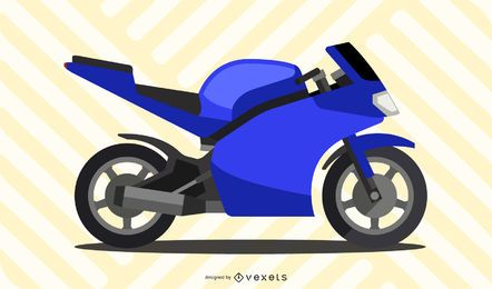 Gráfico vectorial gratuito de moto