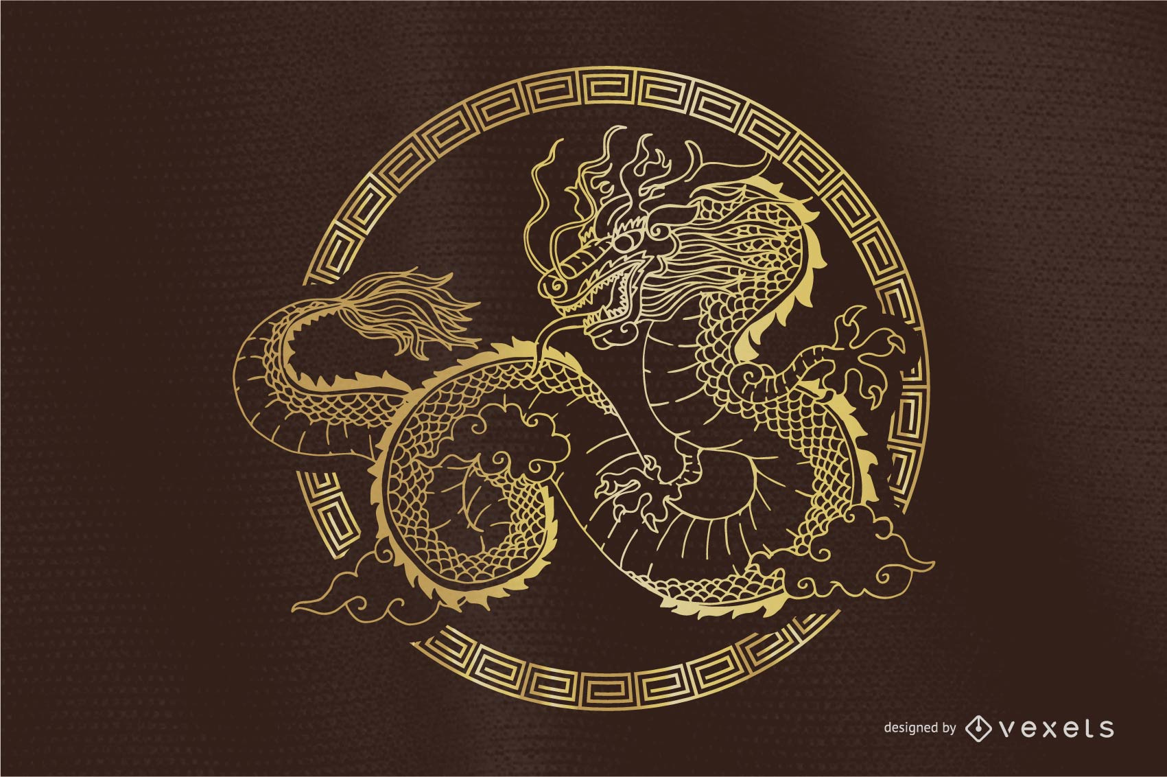 Classical Dragon Vector Round