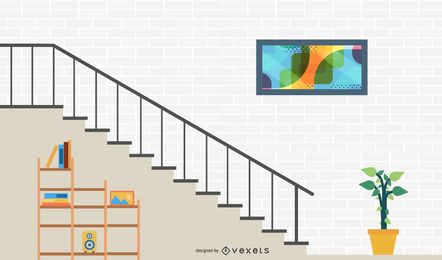 Vector de escaleras