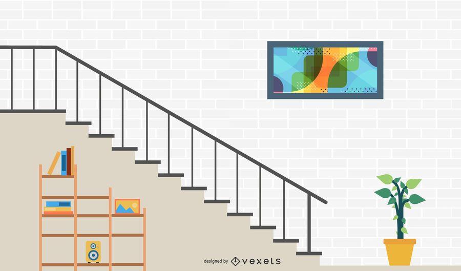 Vector de escaleras
