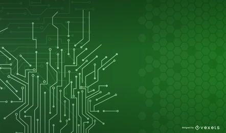 Vector impreso placa de circuito