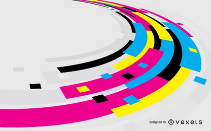 Fondo de color de vector de CMYK