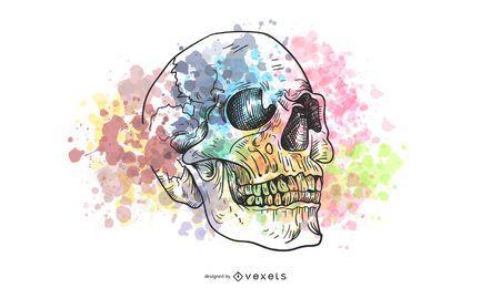 Tendência do crânio vetor série 2 54