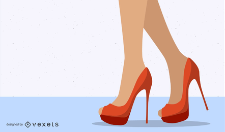 Sexy High Heels Beauty Vector
