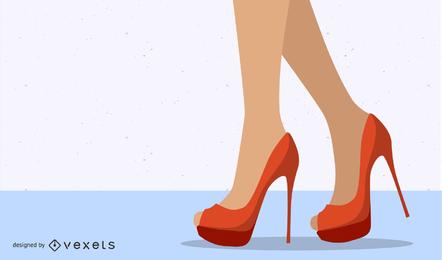 Sexy High Heels-Schönheits-Vektor
