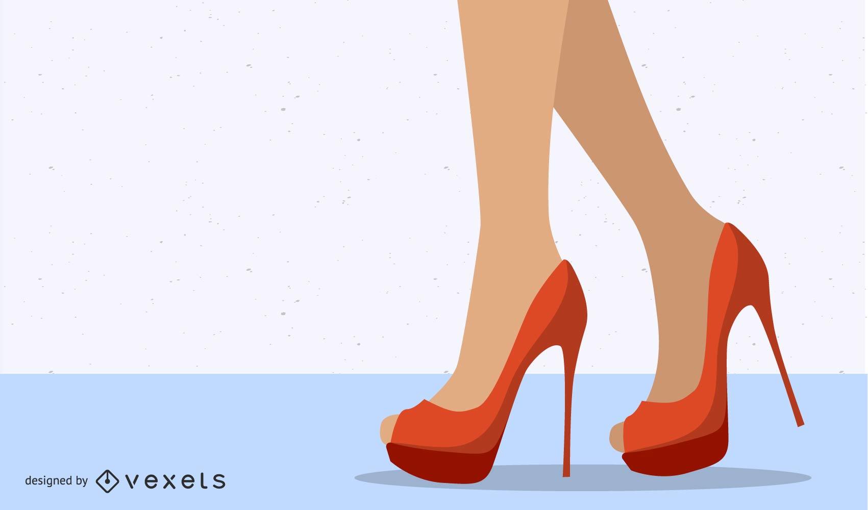 Sexy High Heels Beauty Vector