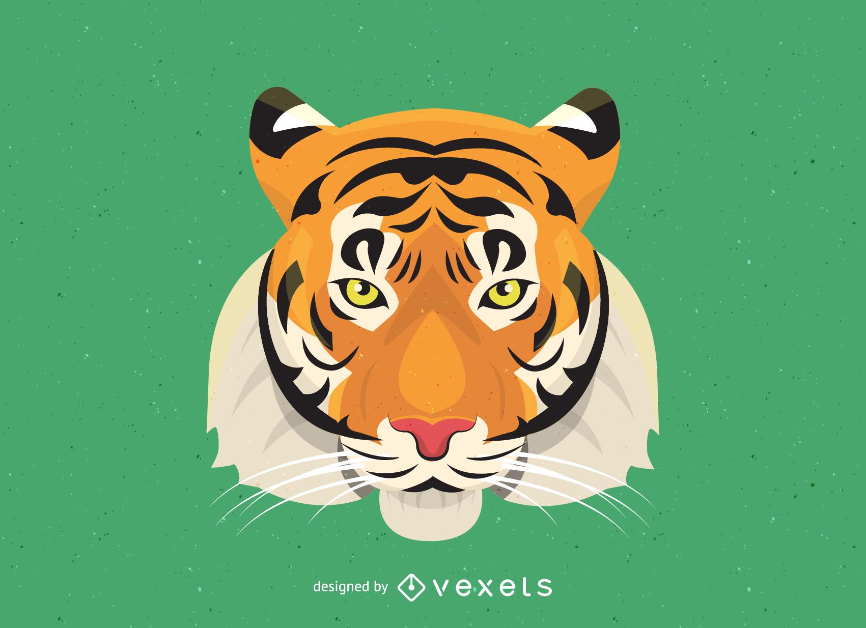 Vector de imagen de tigre 17