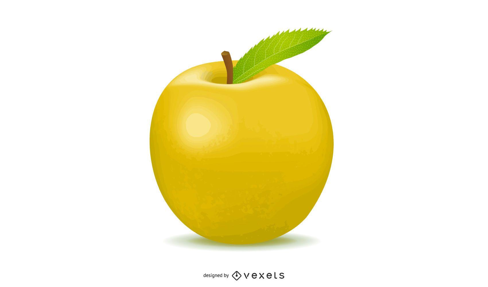 Apple Realistic Illustration