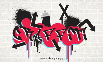 Vector de fuentes de graffiti