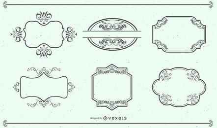 Elementos de design retro