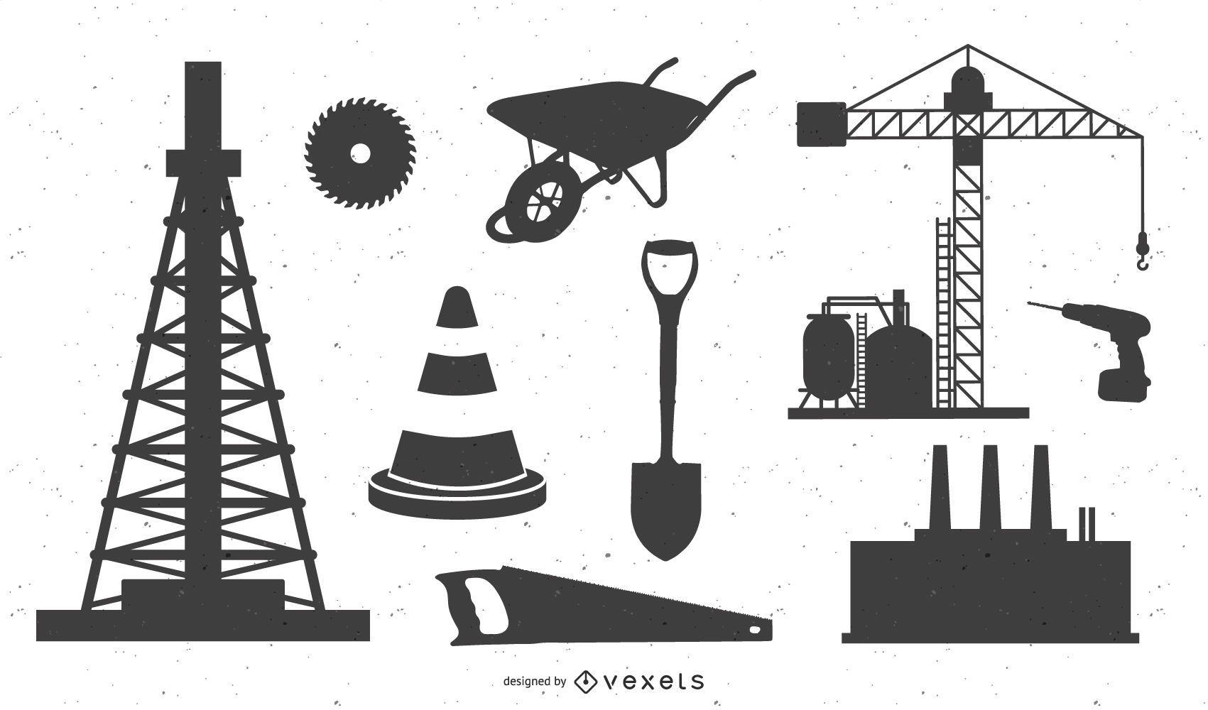 Industrial Equipment Vector Graphics