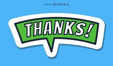 Diga gracias palabras vectoriales