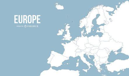 Ilustración de mapa de europa