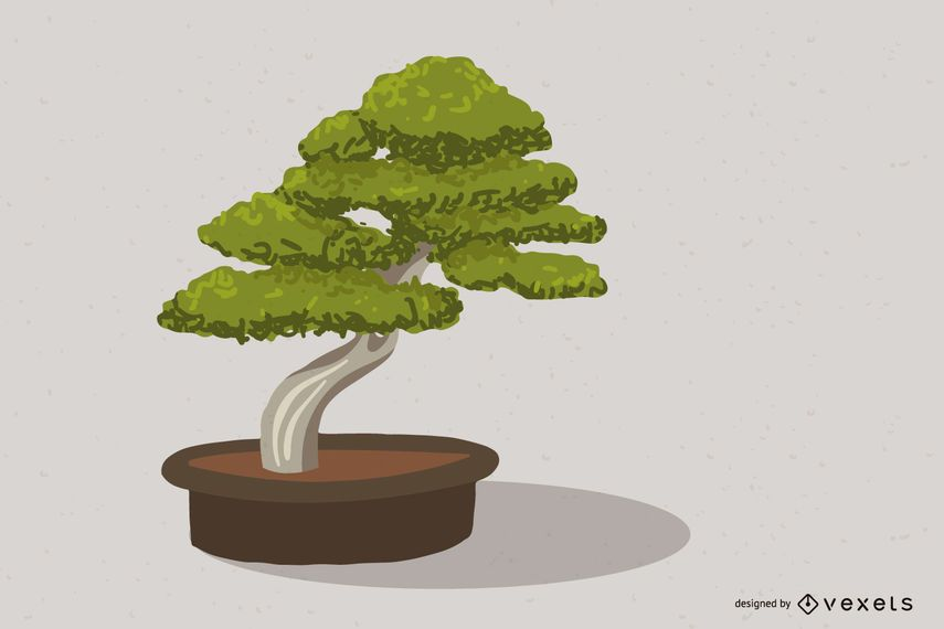 Vector de arbol bonsai