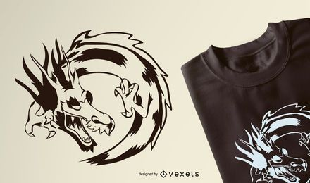 Diseño de camiseta de Dragon Stroke