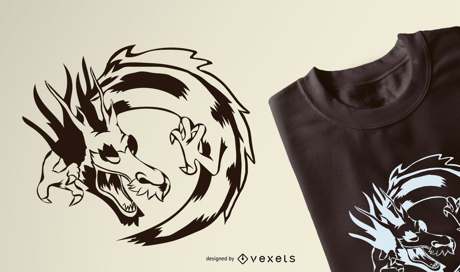 Dragon Graphic T-Shirt Design