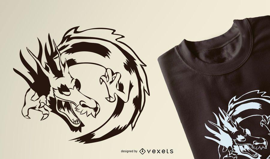 Projeto do t-shirt do curso do dragão