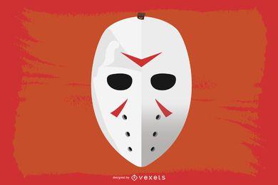 Vetor de máscara de hóquei