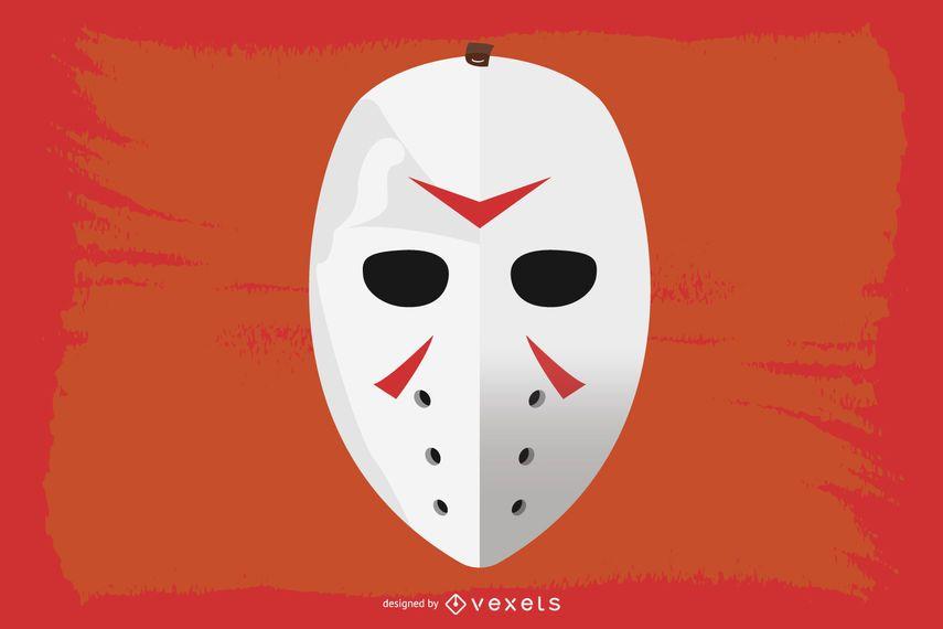 Vector de mascara de hockey