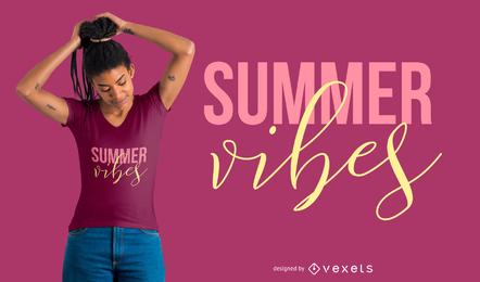 Design de t-shirt de vibrações de verão