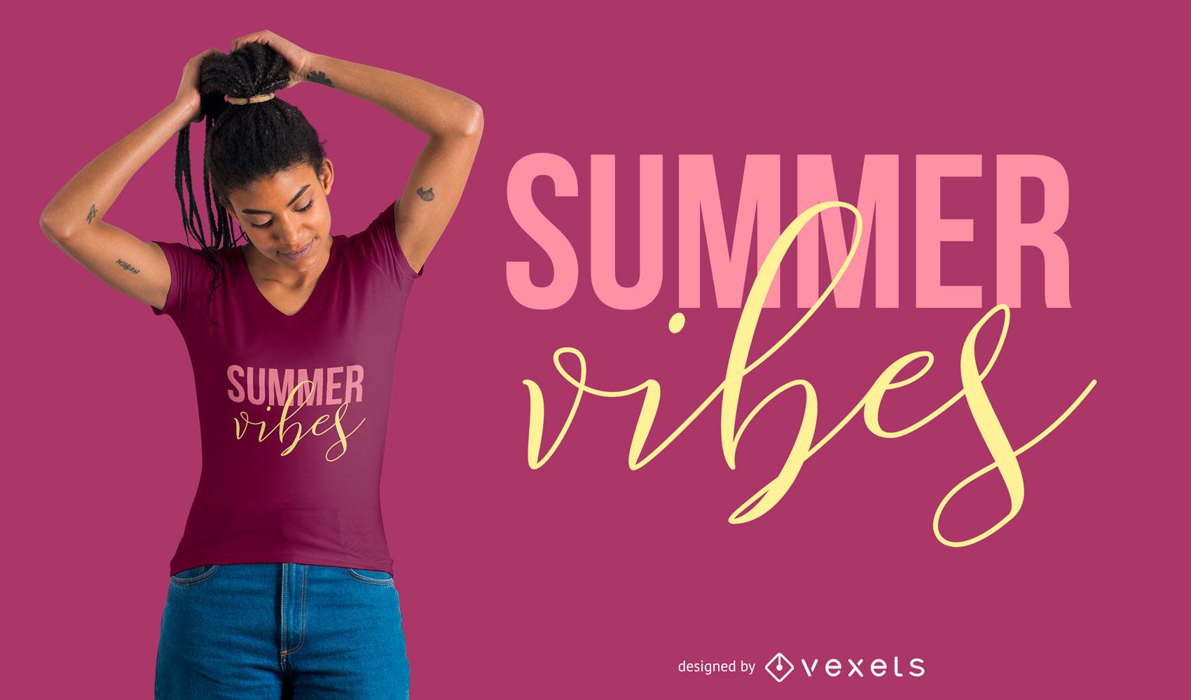 Summer Vibes T-Shirt Design