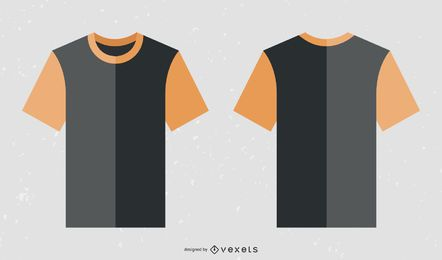 Free Black Orange Collar T Shirt Template