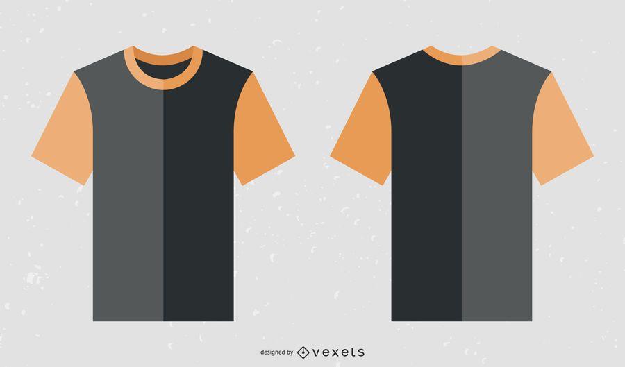 Free Black Orange Collar T Shirt Template