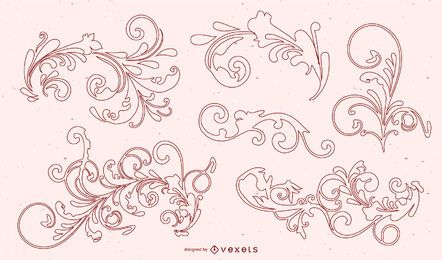 Antike Ornamente Vektoren