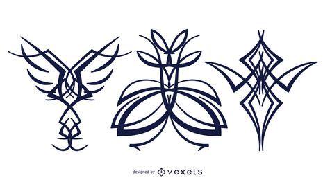Gráficos de vetor de tatuagem
