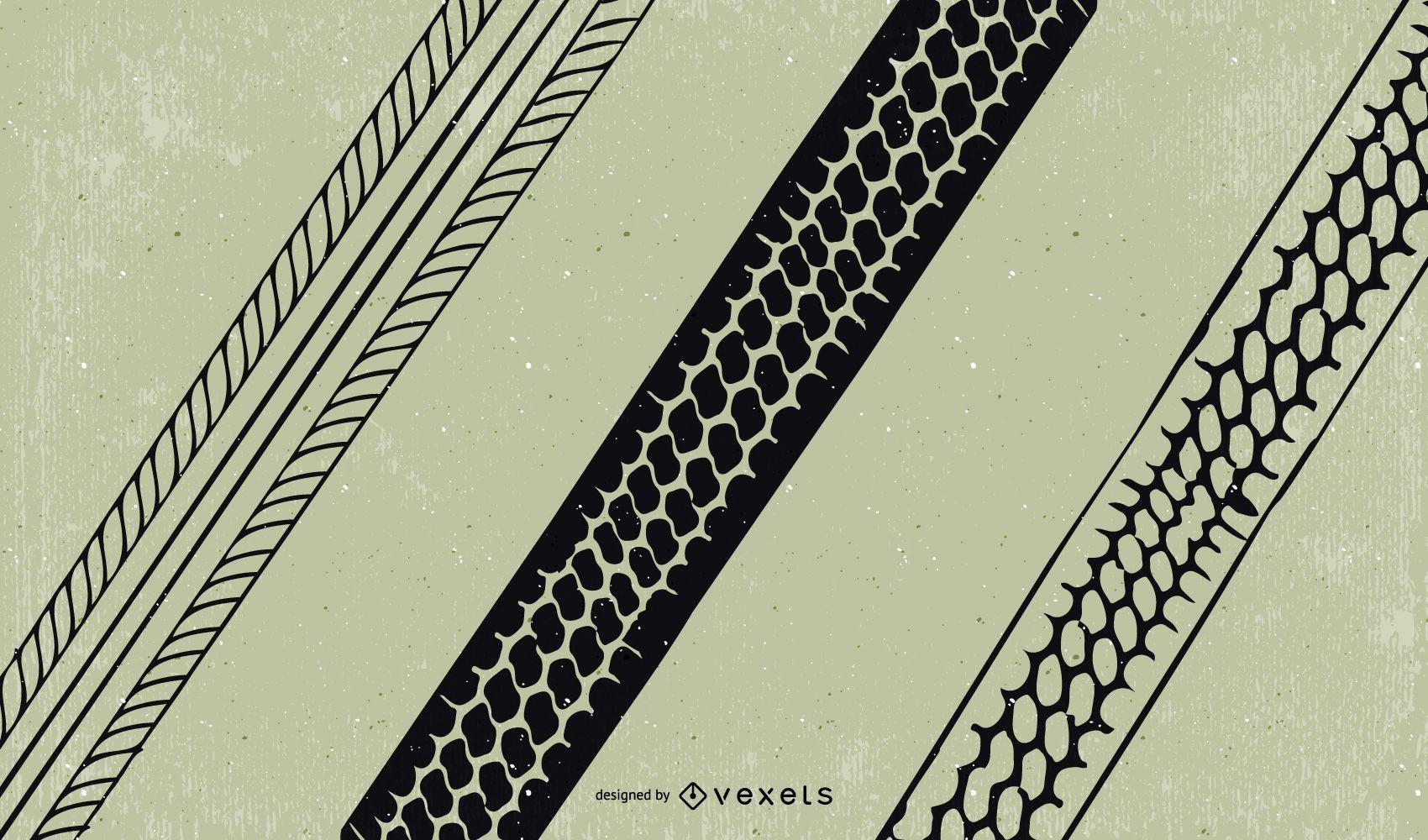 Tire Marks Vector
