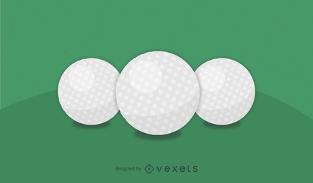 Realistic Golf Ball Vector