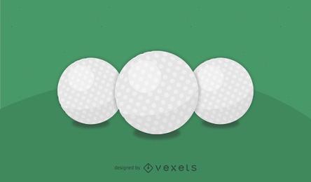 Vetor realista de bola de golfe