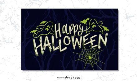 Halloween gruselige Postkarte