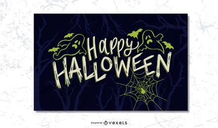 Postal de miedo de Halloween