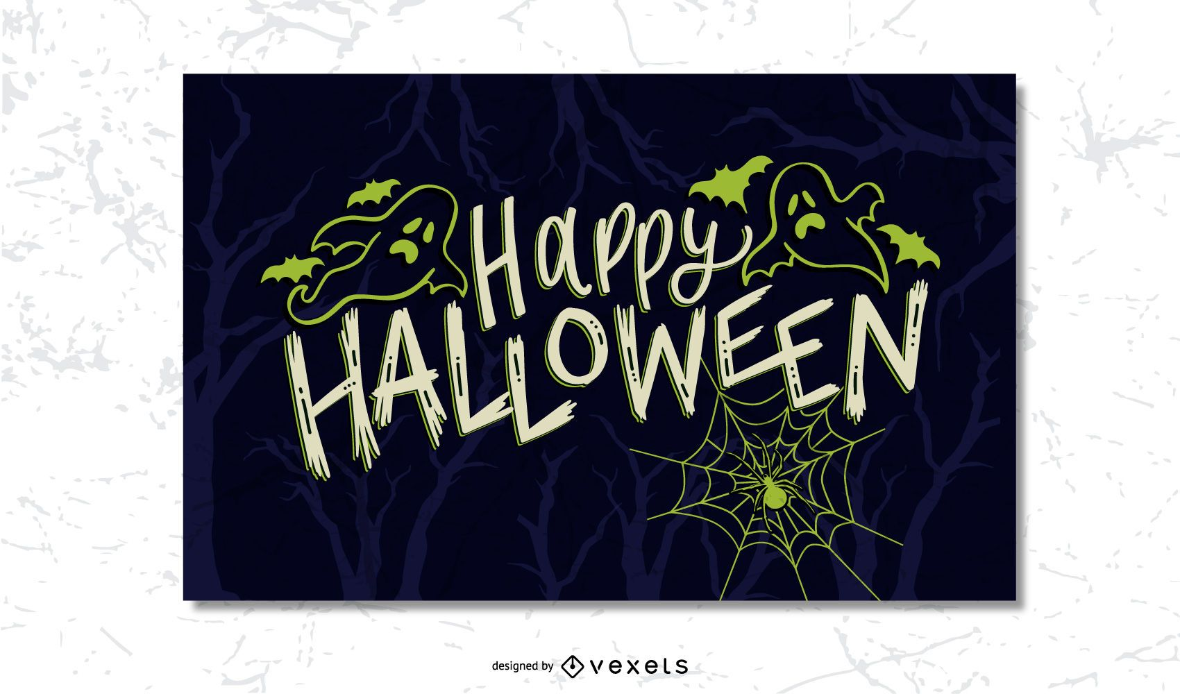 Halloween Scary Postcard