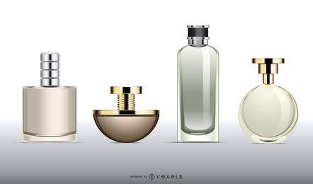 Vetor de frasco de perfume vazio