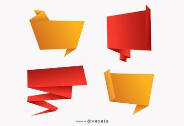 Origami decorativos gráficos vectoriales 2