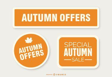 Autumn offers sticker set