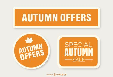 Autumn offers stickers
