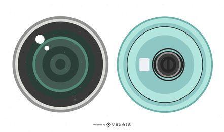 Lente de câmera 01 Vector